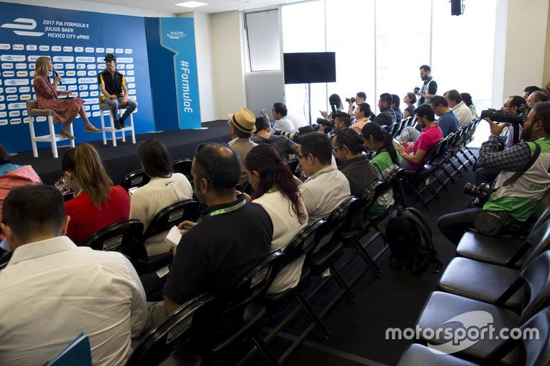 Press conference with Esteban Gutiérrez, Techeetah