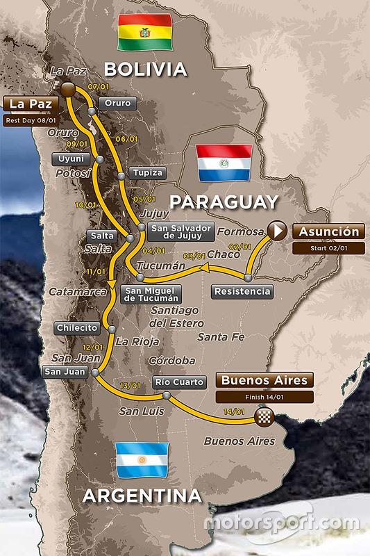 La ruta del Dakar 2017