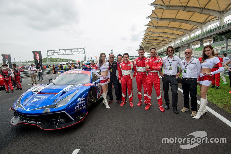 #75 T2 Motorsports, Ferrari 488 GT3, Gregory Teo Bee Tat, David Tjiptobiantoro, Christian Colombo