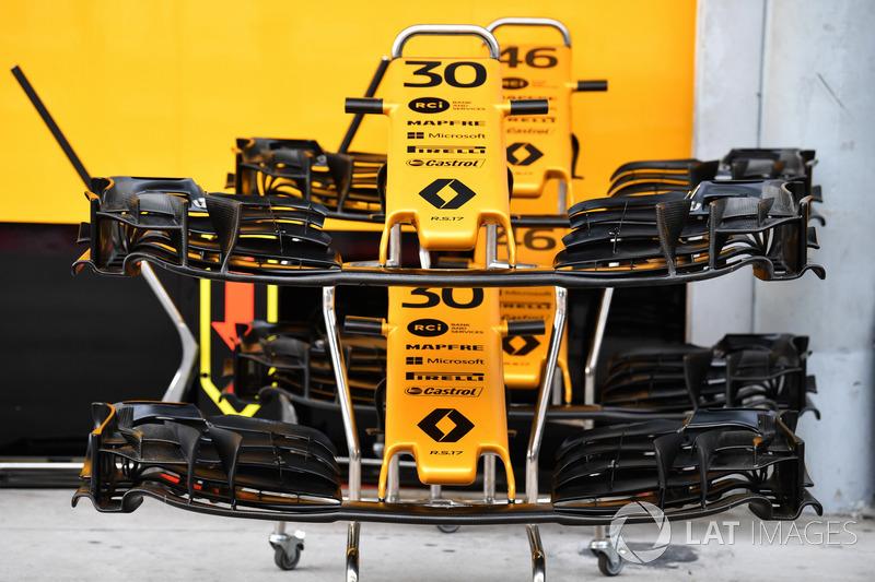 Morro y alerones delanteros del Renault Sport F1 Team RS17