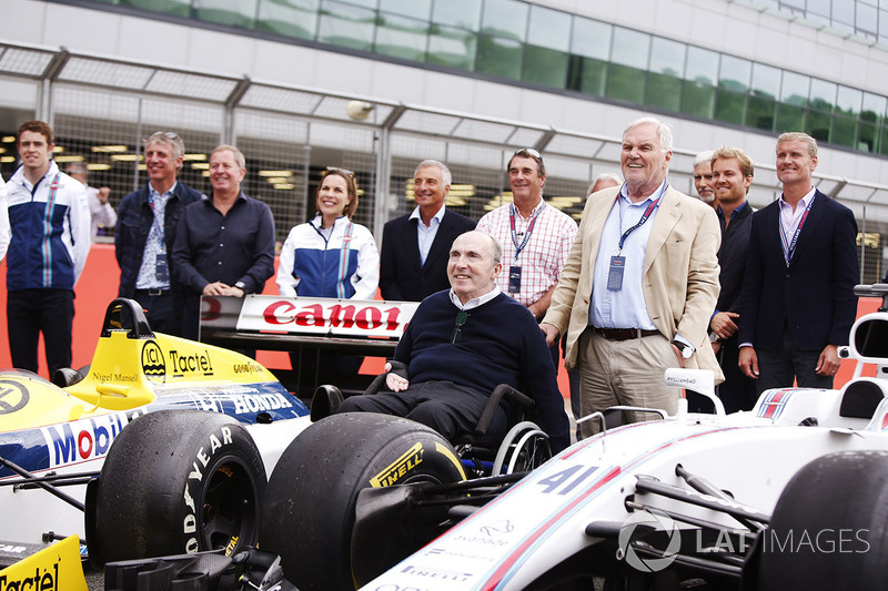 Paul di Resta, Jason Plato, Martin Brundle, Claire Williams, Riccardo Patrese, Sir Frank Williams, Nigel Mansell, Keke Rosberg, Patrick Head, Damon Hill, Nico Rosberg, David Coulthard