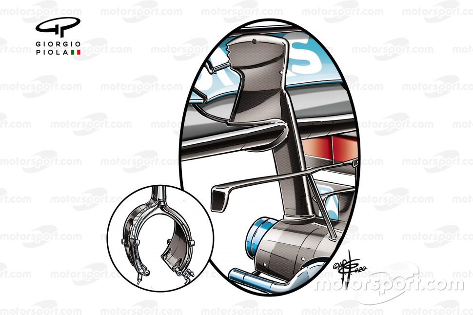Mercedes AMG F1 W11 rear wing detail
