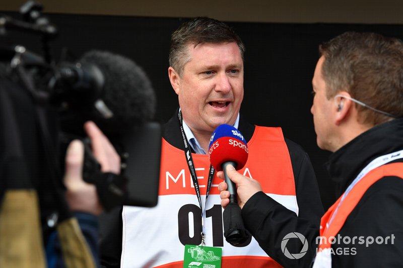 David Croft, Sky TV Commentator and Craig Slater, Sky TV Reporter