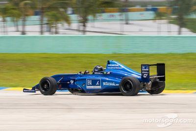 Emerson Fittipaldi Jr. testing at Homestead