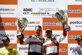 Podium: Winners #33 Team ISR Audi R8 LMS: Filip Salaquarda, Frank Stippler