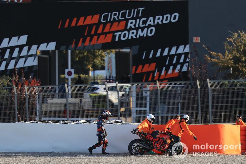 Johann Zarco (Red Bull KTM Factory Racing) a chuté à deux reprises