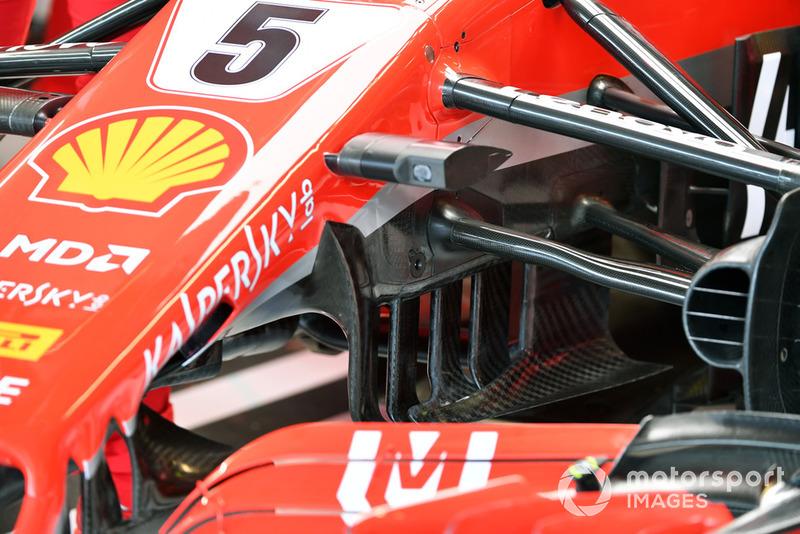 Ferrari SF-71H front suspension detail