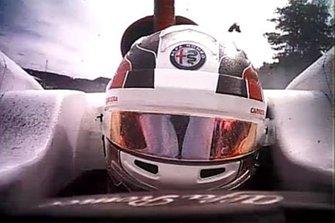 Accident pour Charles Leclerc, Sauber et Fernando Alonso, McLaren