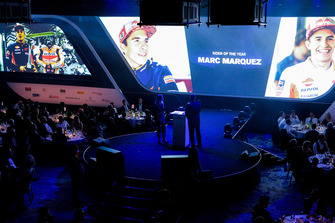 Marc Marquez sends a video message accepting the Rider of the Year award