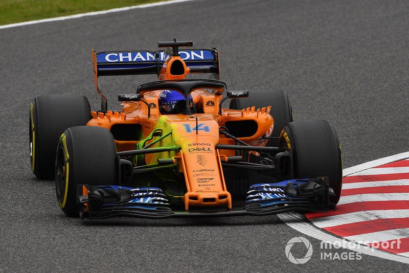 McLaren MCL33 with aero paint on front suspension