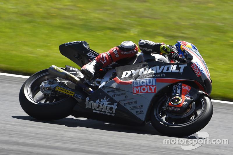 Jonas Folger, Dynavolt Intact GP, Kalex after crash