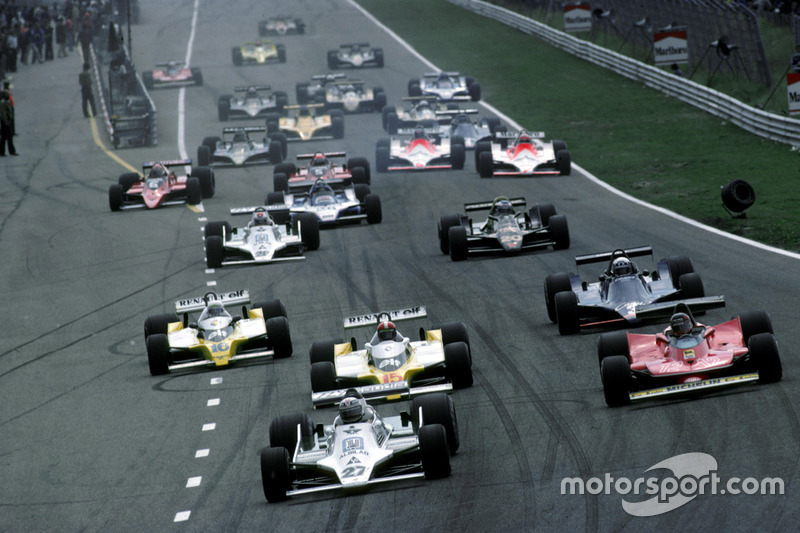 Start: Alan Jones, Williams lider