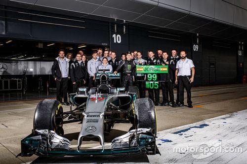 Jorge Lorenzo Mercedes AMG F1 Pueba