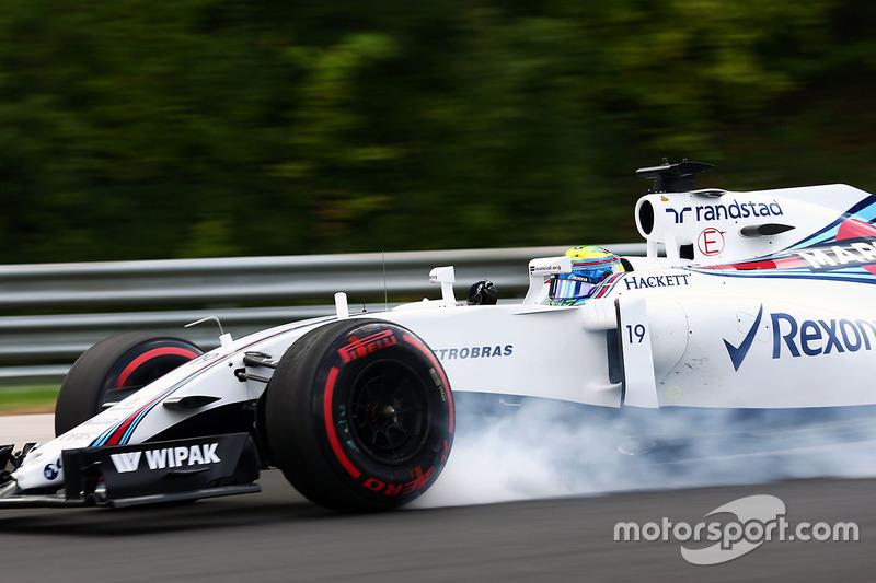 Felipe Massa, Williams FW38 va al bloccaggio in frenata