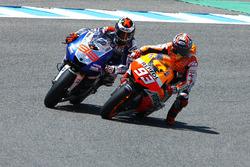 Marc Marquez, Repsol Hond and Jorge Lorenzo, Yamaha