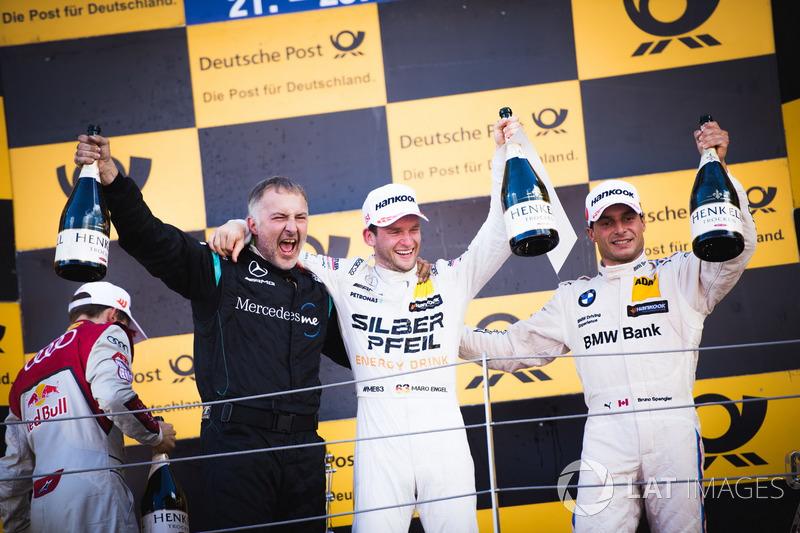 1. Maro Engel, Mercedes-AMG Team HWA, Mercedes-AMG C63 DTM; 3. Bruno Spengler, BMW Team RBM, BMW M4 DTM