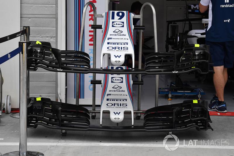Williams FW40: Nase und Frontflügel