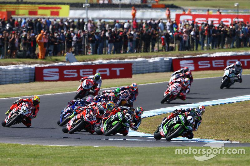 Jonathan Rea, Kawasaki Racing, führt