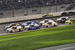 Spencer Gallagher, GMS Racing Chevrolet, Christopher Bell, Kyle Busch Motorsports Toyota, Johnny Sauter, GMS Racing Chevrolet