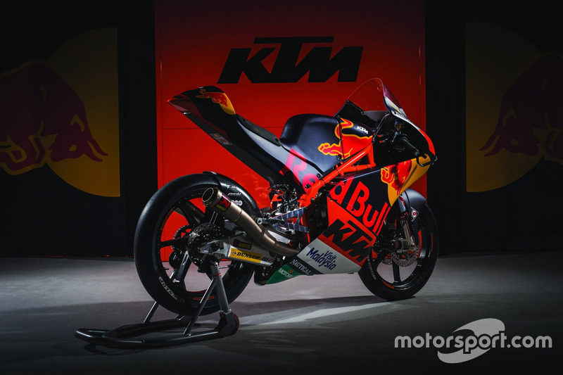 The KTM RC 250 of the Red Bull KTM Ajo Team