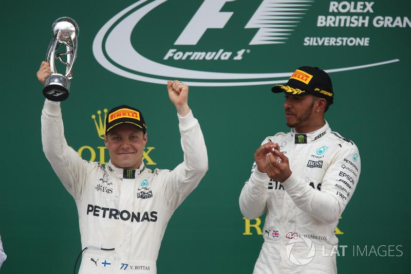Valtteri Bottas, Mercedes AMG F1 que se celebra en el podio