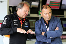Robert Fernley, Sahara Force India F1 Deputy Team Principal,  Eddie Jones, England Rugby Union Team Head Coach