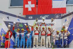 Подіум LMP2: DC Racing, Vaillante Rebellion Racing, Signatech