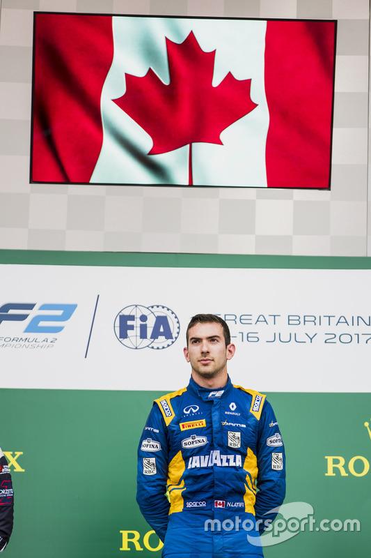 Podium: race winner Nicholas Latifi, DAMS