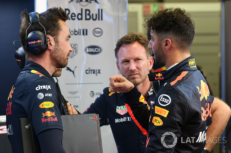 Daniel Ricciardo, Red Bull Racing, mit Christian Horner, Red-Bull-Teamchef