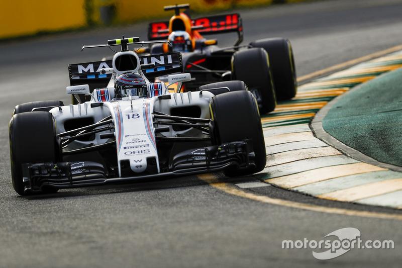 Lance Stroll, Williams FW40, vor Daniel Ricciardo, Red Bull Racing RB13
