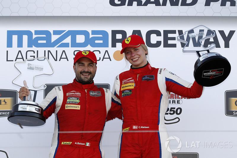 GTD ganadores, Alessandro Balzan, Christina Nielsen, Scuderia Corsa