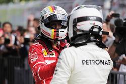 Себастьян Феттель, Ferrari, и победитель Валттери Боттас, Mercedes AMG F1