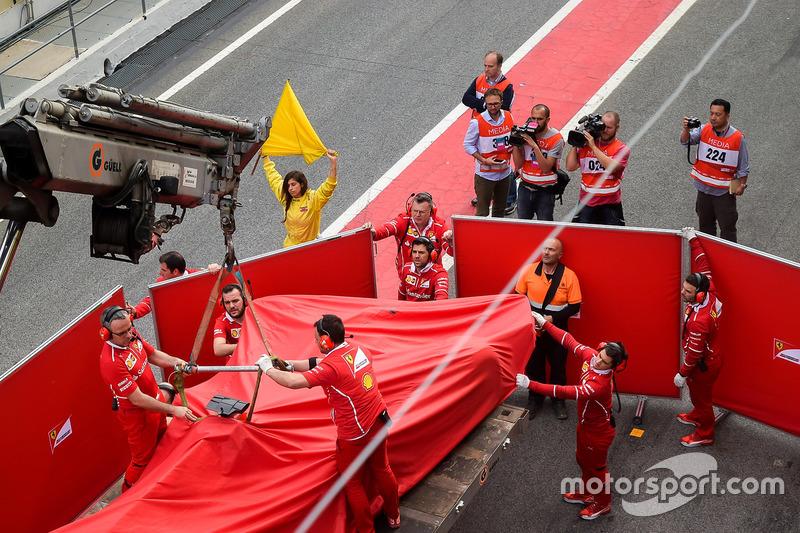Unfallauto von Kimi Räikkönen, Ferrari SF70H