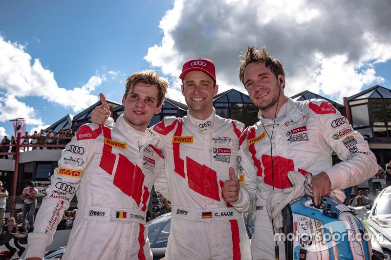 #5 Audi Sport Team WRT Audi R8: Dries Vanthoor, #25 Audi Sport Team Sainteloc Racing Audi R8 LMS: Ch