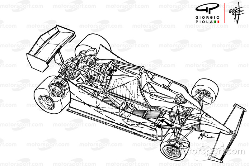 Ferrari 312T5: lo spaccato di Giorgio Piola
