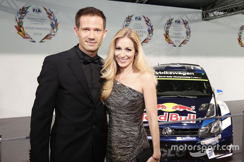 Себастьен Ожье с женой Андреа Кайзер