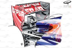 Toro Rosso STR8 rear wing, Singapore GP