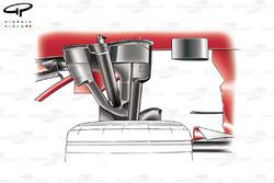 Ferrari F2007 (658) 2007 front suspension top view