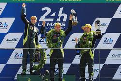 Podium GTE Pro: 1. Darren Turner, Jonathan Adam, Daniel Serra, Aston Martin Racing