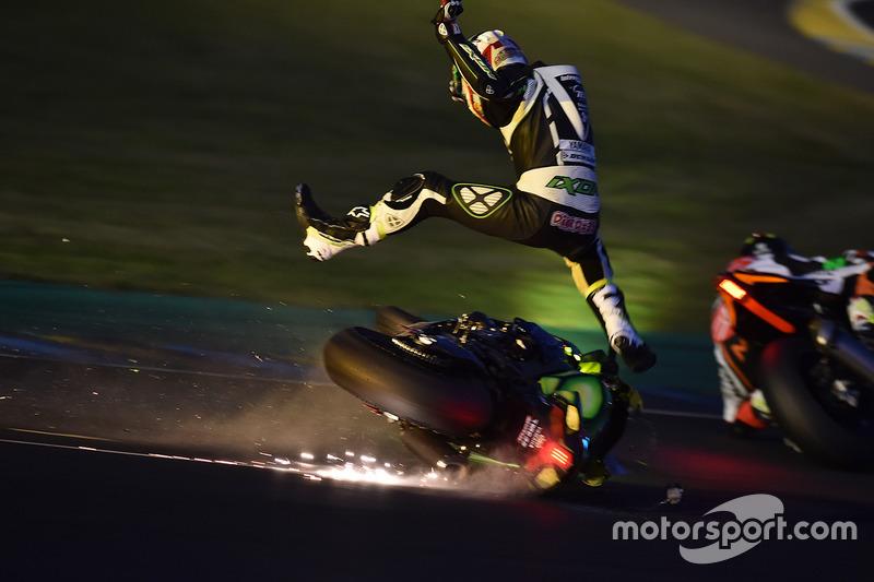 2. #35 Yamaha: Maxime Diard crash