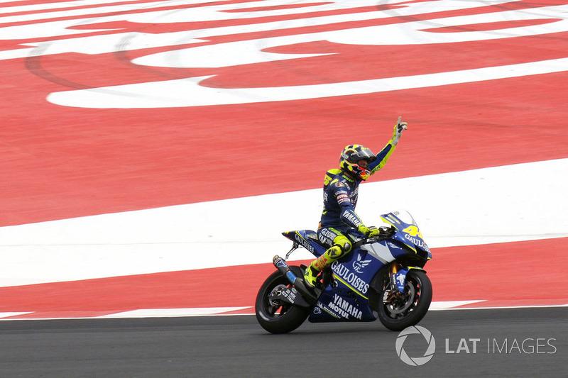 Il vincitore della gara Valentino Rossi