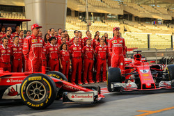 Kimi Raikkonen, Ferrari SF70H and Sebastian Vettel, Ferrari SF70H in the team photo