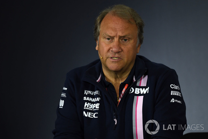 Robert Fearnley, Force India F1 Team Deputy Team Principal in the Press Conference