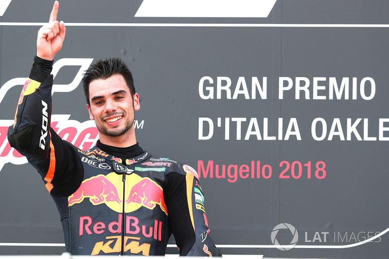 Podio: il vincitore della gara Miguel Oliveira, Red Bull KTM Ajo Moto2