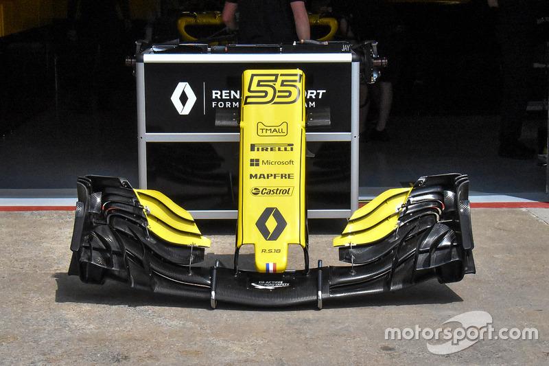 Renault Sport F1 Team RS 18, első szárny, részlet