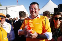 Éric Boullier, directeur de la compétition de McLaren lors de la course de radeaux