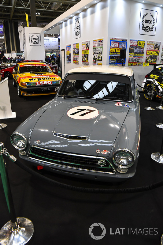 A Lotus Cortina on display