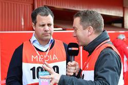 Ted Kravitz, Sky TV et Craig Slater, Sky TV