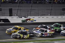 Justin Haley, GMS Racing, Fraternal Order Of Eagles Chevrolet Silverado, David Gilliland, Kyle Busch Motorsports, Pedigree Toyota Tundra