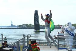 Lucas di Grassi, Audi Sport ABT Schaeffler, celebrates after winning the race